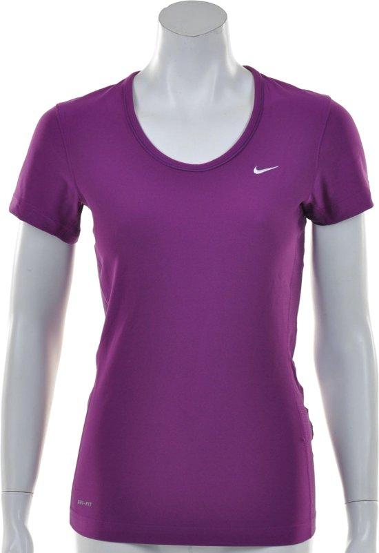 8f24cf38db1 Nike Victory Short Sleeve Slim Top - Sportshirt - Dames - Maat L - Paars