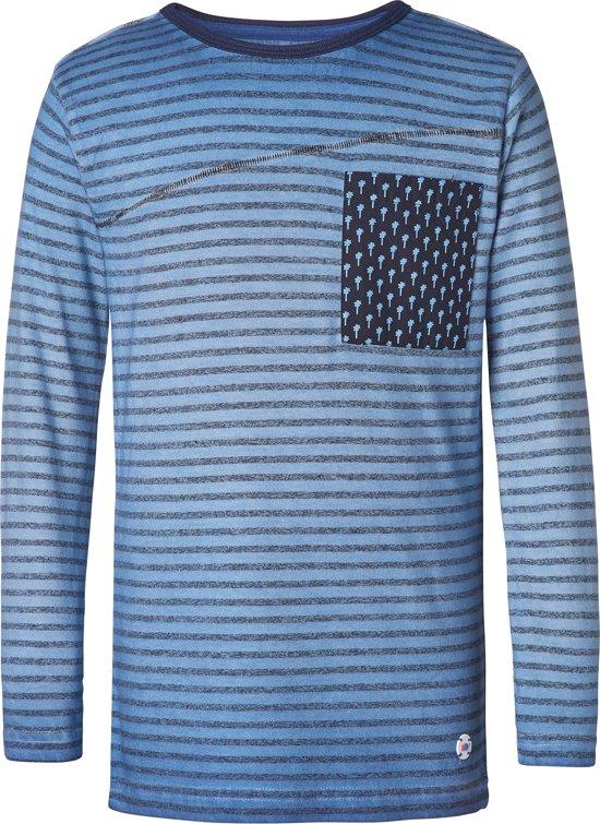 NOP Jongens T-shirt - blauw -  Maat 146