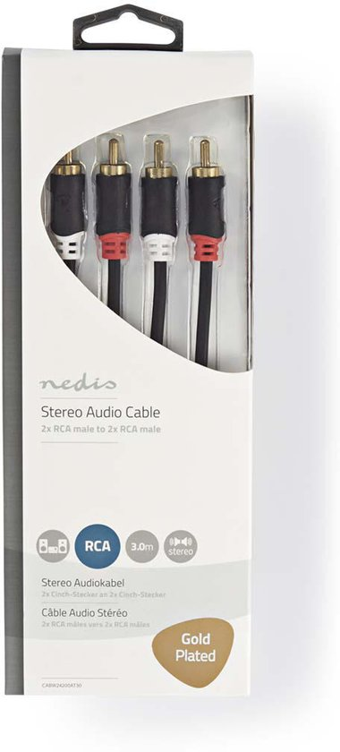 Nedis RCA - RCA Kabel 3 Meter