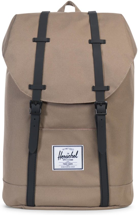 599bae892f4 Herschel Supply Co. Retreat - Rugzak - Lead Green   Black Rubber