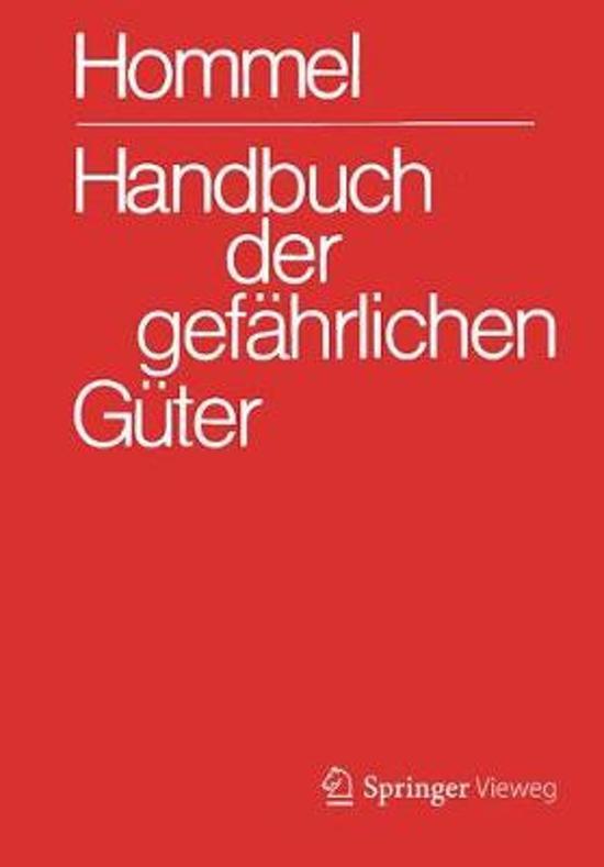 Handbuch Der Gef hrlichen G ter. Gesamtwerk