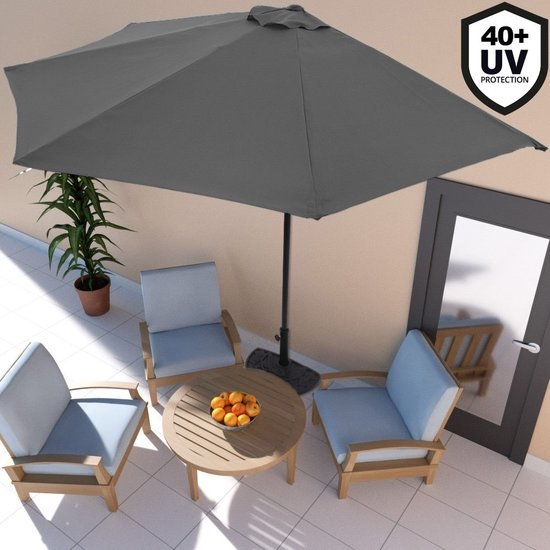 balkon parasol halve parasol muur parasol antraciet. Black Bedroom Furniture Sets. Home Design Ideas