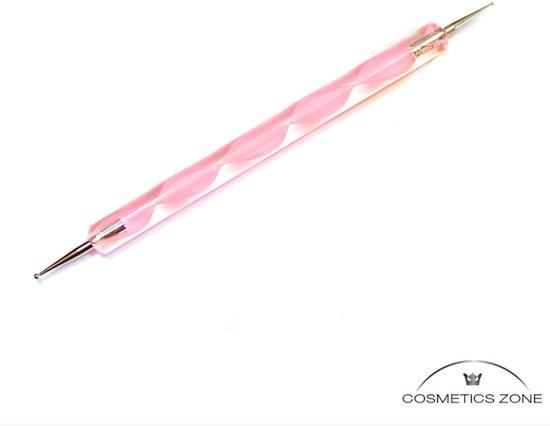 Cosmetics Zone Nail Art decoratie dotting pen set Roze