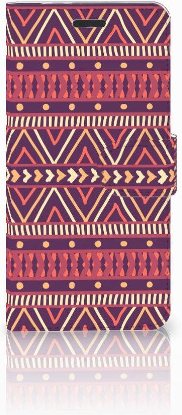 Motorola Moto Z Uniek Boekhoesje Aztec Purple