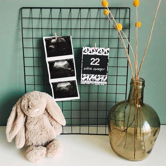 Mijlpaalkaarten zwangerschap | Zwart & Wit