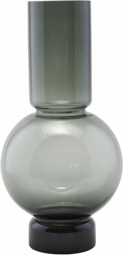 House Doctor BE0991 Glazen Vaas - Bubble - ø17,5xH35cm - Glas - Grijs