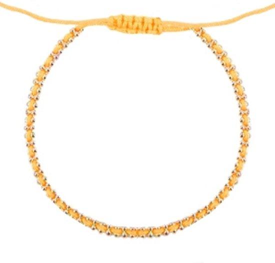 Ibiza look armbandje vibrant orange-gold