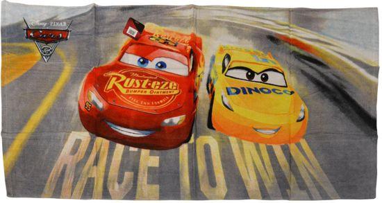 Disney - Cars 3 - Lightning McQueen - Race to Win - Badlaken - Strandlaken - Handdoek - 140 x 70 cm