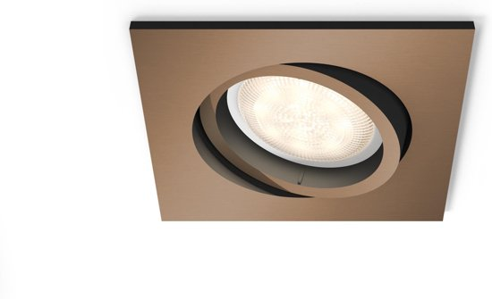Slaapkamer Lamp Philips : Bol philips shellbark inbouwspot lichtpunt koper