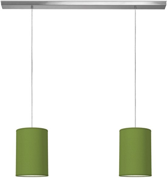 hanglamp beam 2 tube Ø 20 cm - Forest green