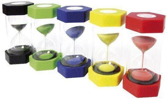 Afbeelding van het spel Zandlopers voor kinderen (set van 5 stuks)