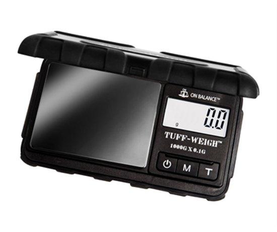 Tuff-Weigh Zwart Titanium Digitale Precisie Weegschaal 0.1 tot 1000 Gram Nauwkeurig