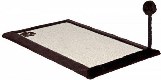Trixie krabmat met pluche rand bruin / naturel 70x45 cm