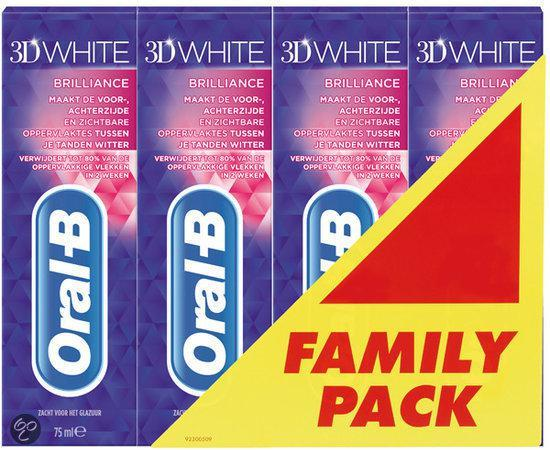 Oral-B 3D White Brilliance - 4 x 75 ml - Tandpasta