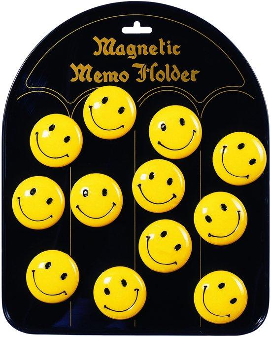 Goki Magneten smiley: 12 stuks