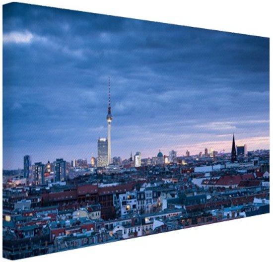 Panorama Prenzlauer Berg Berlijn Canvas 80x60 cm - Foto print op Canvas schilderij (Wanddecoratie)