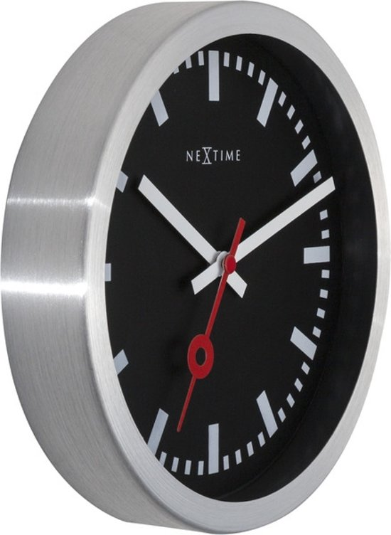 NeXtime Station Stripes Klok à 19 cm