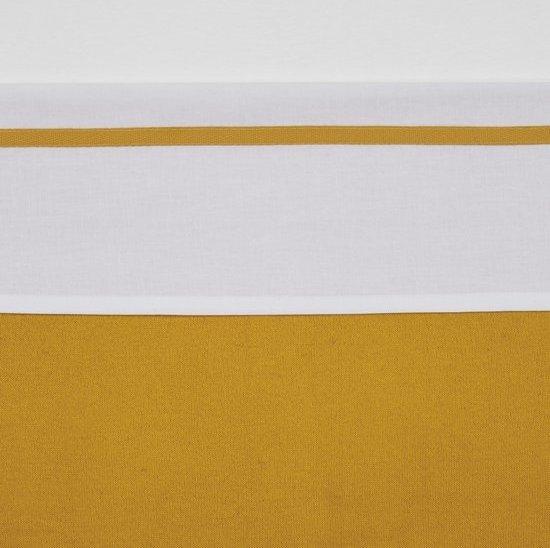 Meyco ledikantlaken wit met bies - 100 x 150 cm - Oudroze