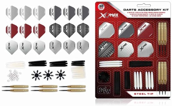 XQMax - 2 sets dartpijlen plus 84 pcs Darts Accessory kit - dartset - dartpijlen - cadeauset