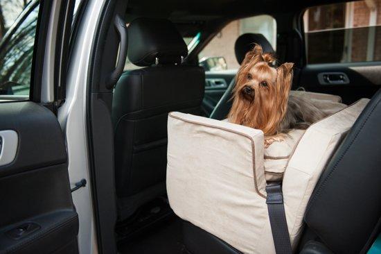 Snoozer Lookout - Autostoel - Autozitje voor honden - Large 76 cm - Buckskin - met lade