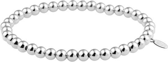 The Jewelry Collection Armband Bolletjes 5,0 mm 19 cm - Zilver Gerhodineerd