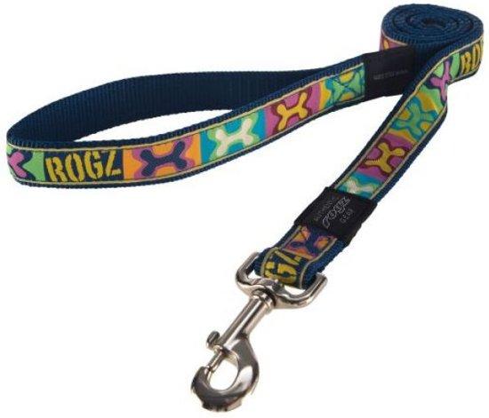 Rogz for dogs jellybean lijn voor hond pop art navy 11 mmx1,6 mtr