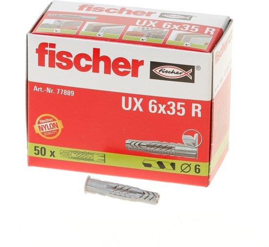 Fischer Universeelplug U x 6 x 35R - 50 Stuks