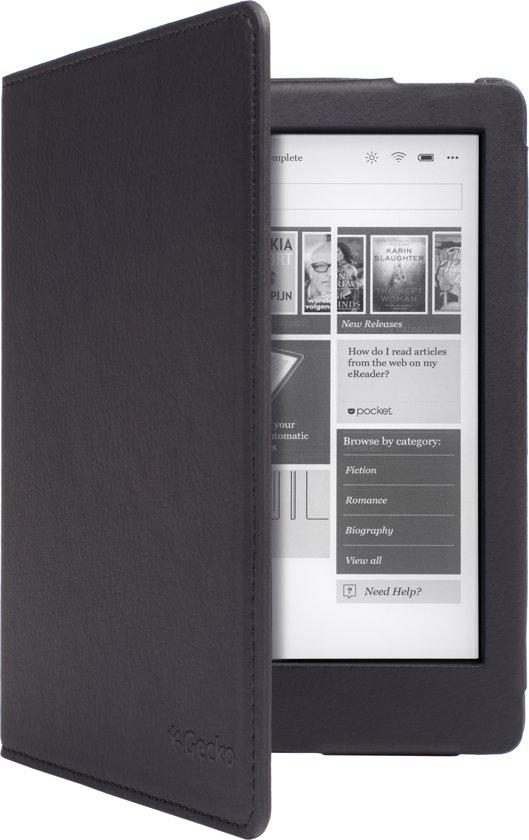 Gecko - Luxe Beschermhoes voor Kobo Aura Edition 2 (Zwart)