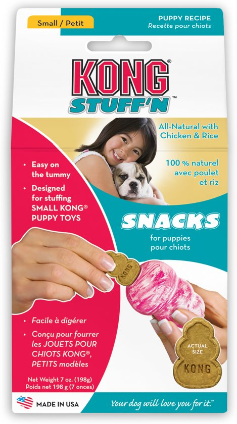 Kong Stuff 'N Mini Snacks Puppy (Kip&Rijst) - Hondenkoekjes