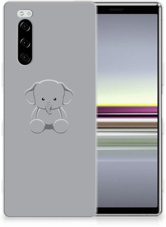 Sony Xperia 5 Telefoonhoesje met Naam Grijs Baby Olifant