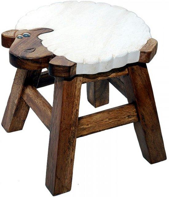 Kinderkruk | 'schaap' | Dieren | Hout | Kruk voor kinderen | Handgemaakt | Uniek | 25 cm hoog