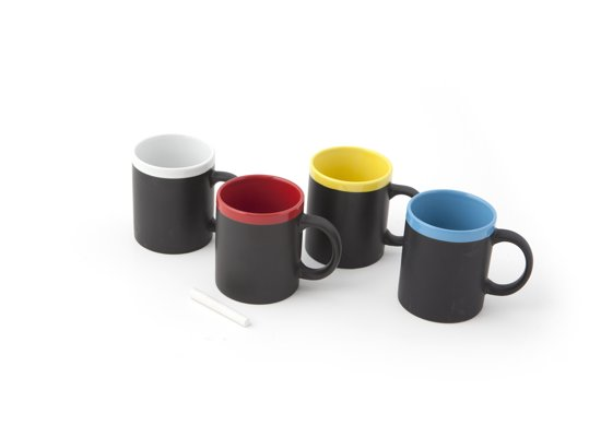 Out of the Blue Chalk Talk Mug - Krijt Beker - Willekeurige kleur
