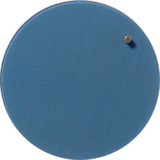 2x Naga Nord magnetisch rond glasbord, diameter 25cm, jeans blauw