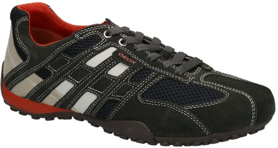 Geox - U 4207 K  - Casual schoen veter - Heren - Maat 42 - Grijs;Grijze - 1300 -Dark Grey/Off White