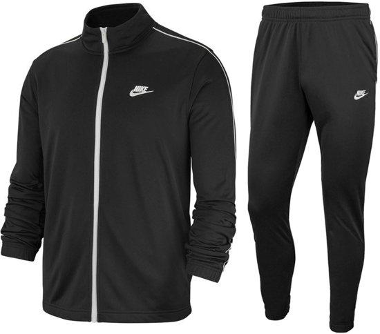 Nike Nsw Ce Trk Suit Pk Basic Heren Trainingspak - Black/White/(White) - Maat L