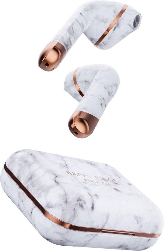 Happy Plugs Hoofdtelefoon AIR 1 White Marble