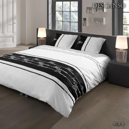 Wit Bed 2 Persoons.Bol Com Descanso Dekbedovertrek Zwart Wit 2 Persoons 200x200