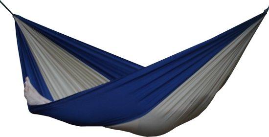 Parachute Hangmat Dubbel - Beige/Marine blauw