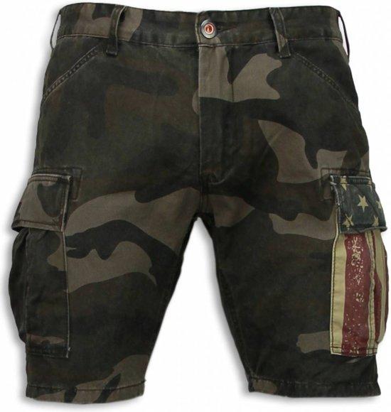 Korte Broek Legerprint Heren.Maten Shorts 28 Korte Fit Camouflage Slim Amp Bread Broeken Groen