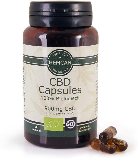 Biologische CBD Olie Capsules - 900mg CBD (90 stuks)