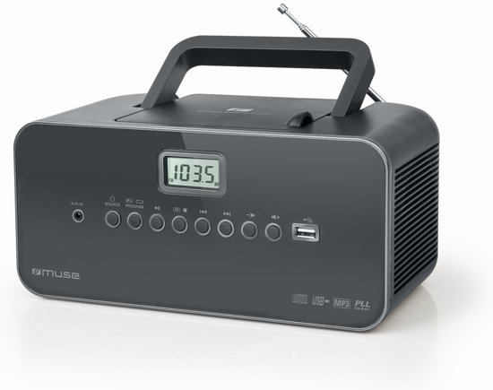 Muse M-28 DG - Draagbare Radio/CD/MP3-speler met USB