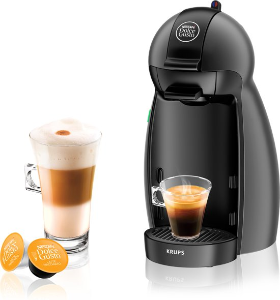 krups nescaf dolce gusto kp100b piccolo koffiecupmachine antraciet. Black Bedroom Furniture Sets. Home Design Ideas