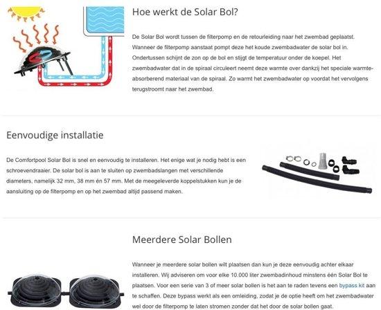 Comfortpool Zonneboiler - Solar Zwembad Verwarming Rond