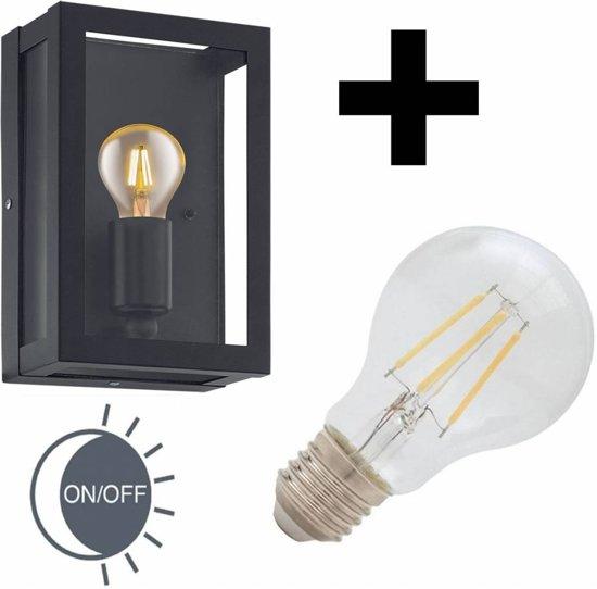 bol.com   Buitenlamp Alamonte zwart dag-nacht sensor