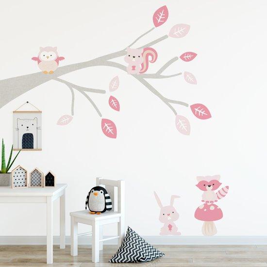 Stickers Voor Op De Muur Kinderkamer.Decoratie Stickers Muur Wand Voor Slaapkamer Kinderkamer En Babykamer Muursticker Tak Woodland Roze