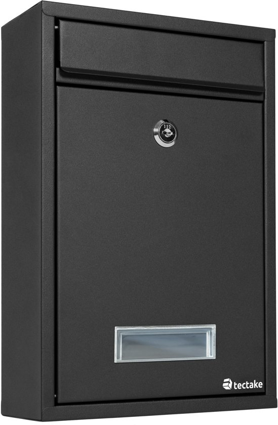 Brievenbus / brievenbussen systeem staal zwart 401511