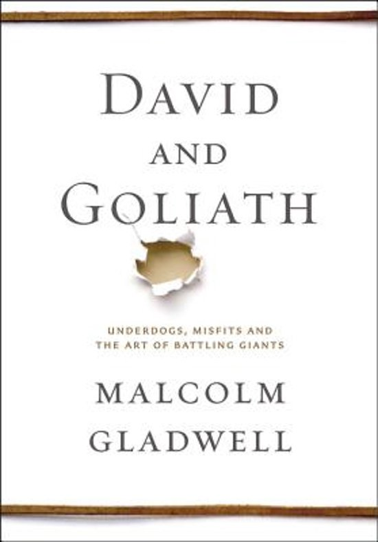 Boek cover David and Goliath van Malcolm Gladwell (Hardcover)