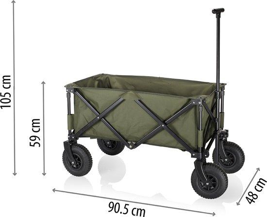 Campart Travel HC-0915 Opvouwbare bolderkar - Luchtbanden