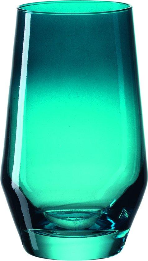 Leonardo Puccini - Longdrinkglas - turquoise - 6 stuks