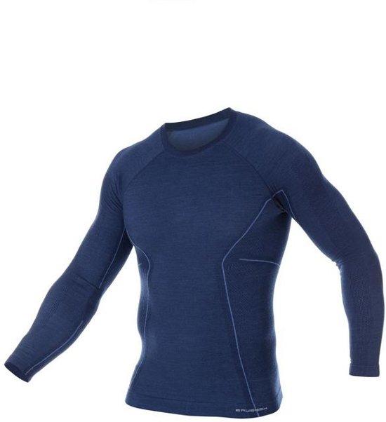 Seamless Merino Wol BrubeckActive l Mouwmarineblauw WoolHeren Met Ondershirt Shirt Thermo Lange VpqMGSUz